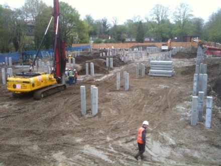 Driven pile foundations at WWF Living Planet Centre
