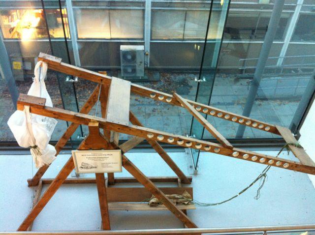Wooden trebuchet built by students at the University of Edinburgh