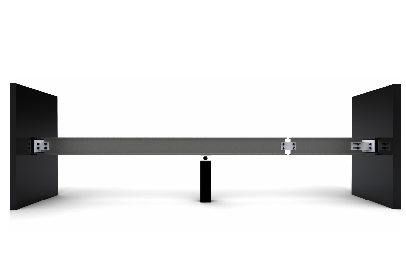 Two Span Simple Beam Continuous Over Central Support With