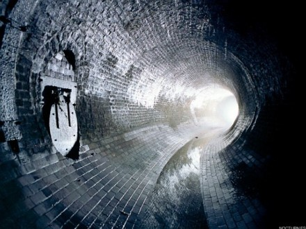 View Inside a Sewer