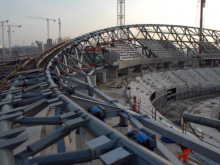 London 2012 Olympic Velodrome roof ring beam